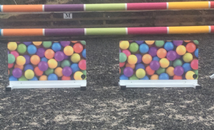 A Pair of Free Standing Bubble Gum Fillers